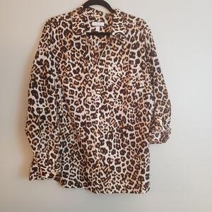 Charter Club Leopard print blouse -XXL